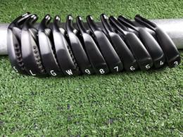 Cobertura de cabeça de clube de golfe conjuntos on-line-0311XF GEN2 Conjunto Preto 0311XF GEN2 Golf Forjado Irons Golf Clubes R / S Eixo de Aço Flex Com Tampa Da Cabeça