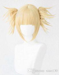 My Boku no Hero Академия Химико Тога Парик Светло-русый Хвост Парик Косплей + Кепка supplier wig cosplay blonde ponytail от Поставщики парик косплей блондинка-конский хвост