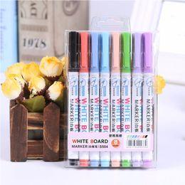 Deli 8 Colors Маркеры со слабым запахом для сухого стирания Белая доска Стираемые фломастеры, ультра тонкий наконечник, разные цвета для школьного офиса от