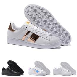 8587c8f95d0e22 2019 Originals Superstar White Hologram Iridescent Junior Superstars 80s  Pride Sneakers Super Star Women Men Sport Casual Shoes EUR 36-44