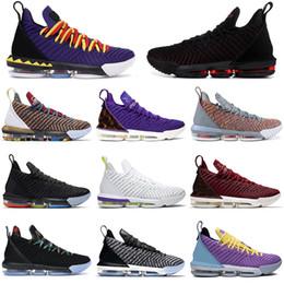 Продажа баскетбольной обуви онлайн-Горячая распродажа лебронДжеймсlbj 16 16s Баскетбольные кроссовки Мужчины 1 через 5 Court Purple Martin Oreo разводят мужские дизайнерские кроссовки спортивные