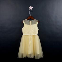Niñas amarillas vestidos de desfile de encaje apliques sin mangas vestidos de niña de flores para la boda púrpura tul puffy niños vestido de comunión desde fabricantes