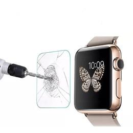 Cobertura lcd on-line-Vidro temperado para apple watch series 4 3 2 1 cobertura completa 2.5d curvo protetor de tela para iwatch 42mm 38mm 40mm 44mm lcd película protetora