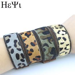 2019 bijoux fshion HEYI Fshion NOUVEAU bracelet armée vert brun léopard cheval cheveux femme mâle mode aimant boucle bracelet national vent bijoux bijoux fshion pas cher