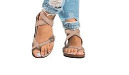 Горячие Продажи-Летняя Мода Унисекс Любителей Женские Сандалии Квартиры Корк Гладиатор Пляжная Обувь Тапочки Zapatos Mujer Sandalias Плюс Размер от