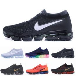 Aire Vapormax Flyknit 1.0 2.0 zapatillas CNY cebra TN multicolor Atlético no choque clásico zapatos que caminan de vapor Max zapatillas de deporte