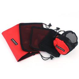 Alta calidad portátil al aire libre 5 UNIDS Conjunto Stuff Sacks Camping Senderismo Viajar Malla Visible Bolsa de almacenamiento Kits de artículos de tocador esenciales Envío Gratis desde fabricantes