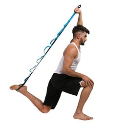 Gymnastik zubehör online-Air Yoga Streifen Anti Schwerkraft Hängematte Zubehör Stretch Gürtel Tun Gymnastik Schwarz Blau Hochwertige Feste Sling 12 5osD1