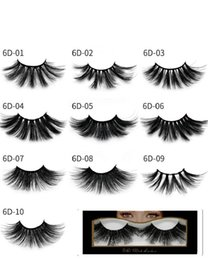 6d eyelashes Coupons - Newest Mink eyelashes makeup 6D mink lashes Soft Natural Thick Cross Handmade with pack 25mm Premium High Quality DHL shipping