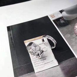 Einfache paare klingelt online-925 silbernen Ring Top Luxuxentwurf Paar-Ring-Elf-Schädel-Ring Valentinstag-Geschenk einfache Art und Weise Schmuck Versorgung