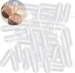 2019 fusione di plastica 50 pz / lotto 4 ml di Plastica Spremere Contagocce Monouso Pipette Trasparenti Cup Cake Cream Iniezione Utensili Da Cucina Forniture 3 3 hh