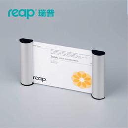 Пейзаж держателя онлайн-5-pack Reap 3117 sonic aluminium A6 пейзаж крытый горизонтальное Настенное крепление знак держатель дисплей информация плакат дверь знак