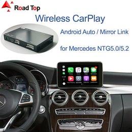 adaptador de coche de alto voltaje Rebajas Carplay inalámbrica para Mercedes Benz Clase C W205 GLC 2015-2018, con Android Auto Mirror Enlace AirPlay coche del juego Funciones