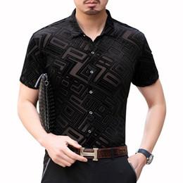 рубашка короткие прозрачные рукава Скидка Нерегулярная решетка Прозрачная рубашка с коротким рукавом Camisa Hombre Fashion Streetwear Бархатная рубашка Гавайский парень Camisa Social