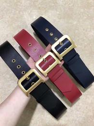 2019 splits de cuero Cinturón de cuero de las mujeres de la moda de la correa de la hebilla lisa de la marca de fábrica de la moda rebajas splits de cuero