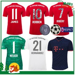 Argentina Bayern Munich 2019 JAMES VIDAL RIBERY LEWANDOWSKI MULLER ROBBEN hogar lejos 3ra camisetas de fútbol 19 20 adulto hombre niños kit deportivo camiseta de fútbol supplier robben soccer jerseys Suministro