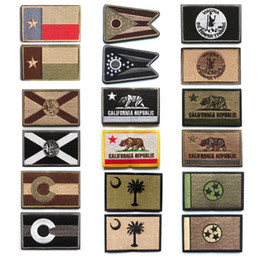patch california Sconti Patch bandiera americana ricamata Texas Ohio Virginia Florida California Colorado Tennessee Patch per abbigliamento
