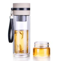 Botella de agua creativa portátil al aire libre Borosilicato de doble pared de vidrio Drinkware con filtro Clear 350ml Mi botella desde fabricantes