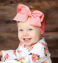 Capelli rosa baby hairbands online-Il nuovo arco di nylon della fascia del bambino per ragazzi ragazze sveglie dei capelli Hairbands bambino fasce per capelli accessori