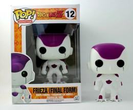 детская игрушка Скидка Funko Pop! Аниме Dragon Ball Супер Frieza Белый Винил фигурку с Box # 12 подарок игрушки хорошего качества для детей игрушки