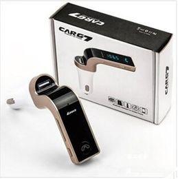 g7 ladegerät Rabatt G7 Auto Drahtlose Bluetooth MP3 FM Transmitter Modulator 2.1A Autoladegerät Wireless Kit Unterstützung Freisprecheinrichtung Mit USB Autoladegerät Mit Paket