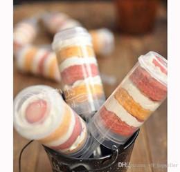 Sıcak satış 600 Adet Pop Konteynerler Push Up Yeni Plastik Push Up Pop Kek Konteynerler Kapaklar Shooter Düğün Doğum Günü Partisi Süslemeleri cheap pop up decoration nereden açılır süsleme tedarikçiler