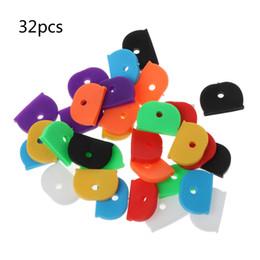 Id cap on-line-32 Pcs Key Caps Tags Etiqueta ID Silicone Codificação Color Key Identifier Capa 8 Cores