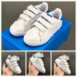 new style kids stan smith cf skate shoes big youth sports Chaussures boys girls outdoor Jogging Shoe kids Athletic Sneakers with box