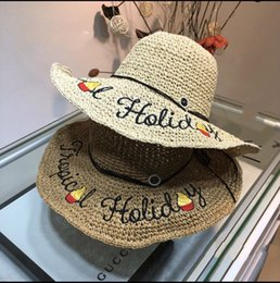 ladies dome hat style Promo Codes - Big eaves hat lady sunscreen big eaves straw hat fashion full of charm straw sunshade hat leisure style