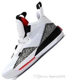 2019 Новый 33 мужской баскетбольной обуви серебристый белый черный красный леопардовым принтом Спортивный дизайнер кроссовки мужские 33s спортивный джемпер тренеры Chaussures от