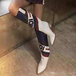 Neue art und weise hoher hefterzufuhr online-Zehe Modedesigner Seltsame High Heels Echtes Leder Frauen Schuhe Neue Herbst Winter Stiefel Runways Lange Frau Stiefel