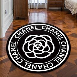 impresión de alfombras personalizadas Rebajas Los diseñadores de tamaño personalizado impresión de alfombras Camellia Carta Negro Grueso de la puerta las alfombras de lujo antideslizante dormitorio de la estera del piso Decoración