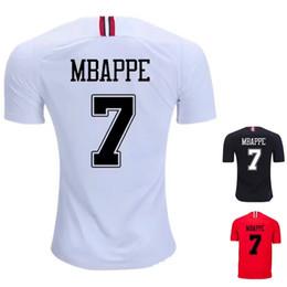 Mbappé NEYMAR champions league Game camisetas de fútbol blancas negras 2019  Thail Quanlity Paris JR saint germain camiseta de fútbol roja 32aa0f8e2bb