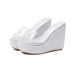 2019 filles super talons Été vente chaude mode femmes sandales compensées pantoufles simples super talon sandales Sandales de plage sexy style fille TY-67 promotion filles super talons