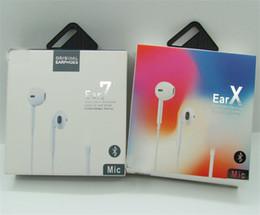 nuevos auriculares de manzana Rebajas 7-generación 8p con nuevo paquete de papel con auriculares Bluetooth para auriculares en audífono con control remoto y micrófono para iphone 7 8 X XR