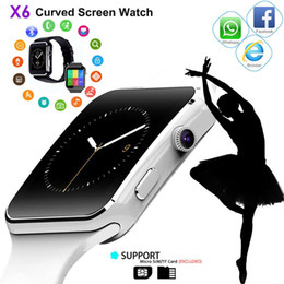 yellow smart watch Promo Codes - X6 Bluetooth Waterproof Smart Watch Smartwatch Camera For HTC Android Samsung