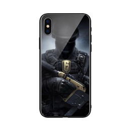 iphone настроить Скидка Цена изготовления солдата военный телефон чехол для iPhone 6 6С 7 8 7plus 8plus х хз ХС XSMax стекло + ТПУ принимает рисунки, настройка