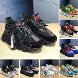 scarpe casual scarpe in pelle pura Sconti reazione a catena mens scarpe di lusso del progettista donne scarpe casual Medusa pelle scamosciata vestito formatori nero zapatillas piattaforma sportiva scarpe da ginnastica WGG