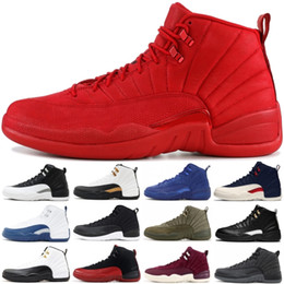 0ed8a80580dc Nouveau Gym Rouge 12 12s Hommes Chaussures De Basketball Michigan College  Marine OVO MELO Taxi Designer Chaussures XII Hommes Sport Sneakers Taille  40-47 ...