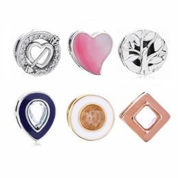 Piccolo fascino per i braccialetti online-100% 925 riflessioni dell'argento sterlina piccolo fascino per i braccialetti europei della maglia di riflessioni dei gioielli di Pandora