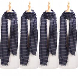2019 warme, elegante wraps Elegante grau-blaue Frauen-Herbst-Schals umschließt gestreifte lange Schals umschließt Tücher für Frauen wärmen günstig warme, elegante wraps