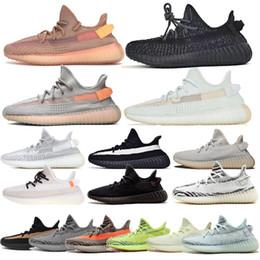 (Con la scatola) 2019 Nuova 350 uomini donne in esecuzione statica scarpe Nero Bred bianco crema di sesamo Kanye West V2 Sport SneakersYeezy350 da