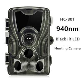 2019 cámara oculta al aire libre Cámara Goujxcy HC801 Trail 16mp 1080p 940nm infrarrojo LED Cámara de caza Visión nocturna Foto Trampas cámara impermeable Scout suntek