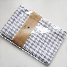 2 unids algodón puro raya gris comprobado servilleta de tela, paño de cocina toalla, estera para hornear paño, fondo de alimentos paño desde fabricantes