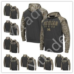 2020 camisola dos hoodies do leão NCAA Michigan Wolverines Penn State Nittany Lions Alabama Crimson Tide camisola Men Salute to Serviço Sideline Camo pulôver Jersey camisola dos hoodies do leão barato