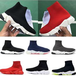Neue Spitzen up Luxusdesigner beiläufige Socke Schuhe schnüren sich oben Speed Trainer Marke Red Triple Black Marke Fashion Socken Trainer