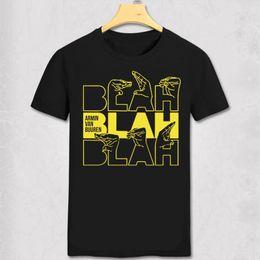 Maglietta musicale dj online-Armin Van Buuren T Shirt Armin Van Buuren Blah T-shirt Trance Music Fans Cool Casual Pride T Shirt Dj Uomo Cotton Short Tee Y19060601