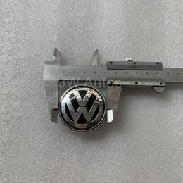 tampa do volante do vw Desconto 1 peça Car Styling Airbag Cover Emblema Para VW Volkswagen Emblema Emblema Airbag Cover Logo Frete Grátis