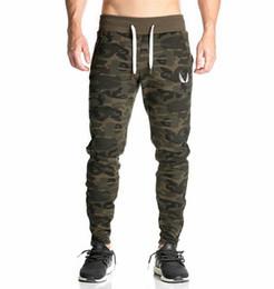 2019 neue lässig ausgestattet Trainingsanzug Bottoms Camouflage Gym Hose Herren Sport Jogger elastische Trainingshose Gym Bodybuilding von Fabrikanten
