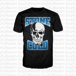холодный как камень Скидка Stone Cold Steve Austin Мужские черные Короткие рукава Топы Мода Круглый шеи T рубашки Размер S M L XL 2XL 3XL